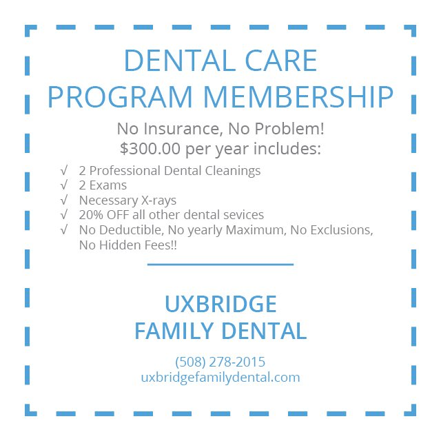 Specials Coupons Uxbridge Ma Dentist Dentist In
